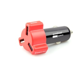 Mbeat® 4.8A 24W Triple-Port Rapid Red Car Charger