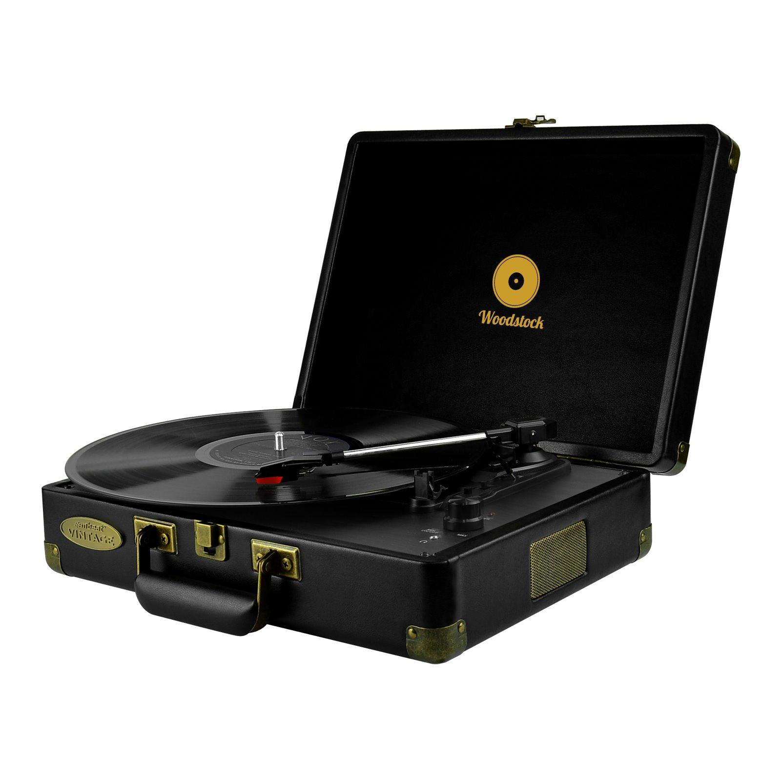 Mbeat® Woodstock Retro Turntable - Black