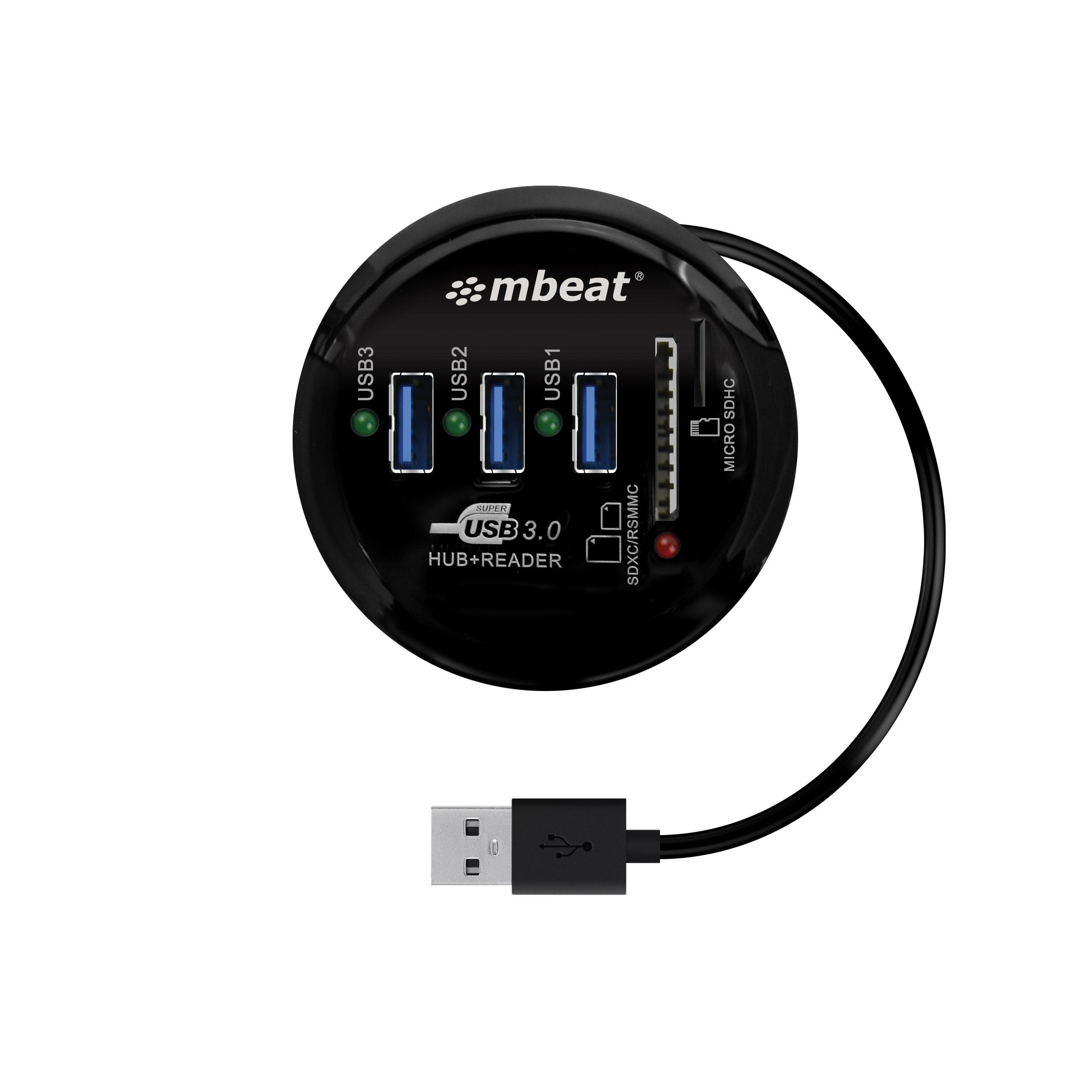 Mbeat® Portable Usb 3.0 Hub And Card Reader