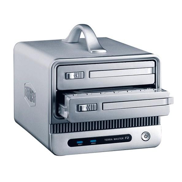 Noontec TerraMaster F2-Nas 2 Nas Device, 2X 3.5' Sata Bays, Raid 0/1, Jbod, Gigabit, Usb 3.0, BT