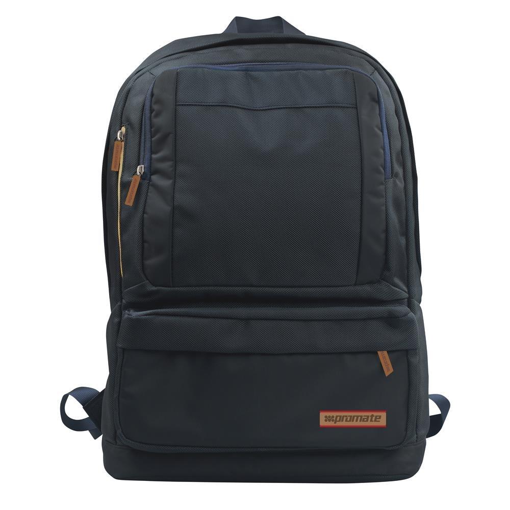 Promate 'Drake' Premium Backpack w/Multiple Storage Options - Black