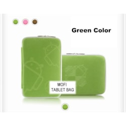 Leader Tablet 10' MofiZip Case Green Andriod Logo. Suit Any 10' Tab