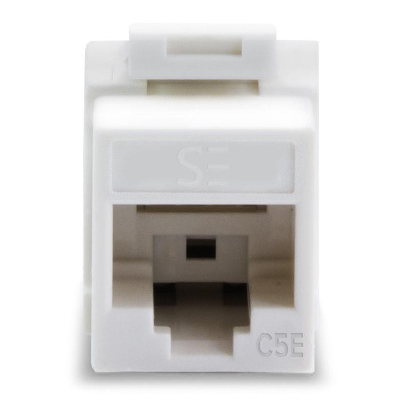 Serveredge Universal Cat5e Utp RJ45 Modular Keystone Jack - White - Pack Of 10