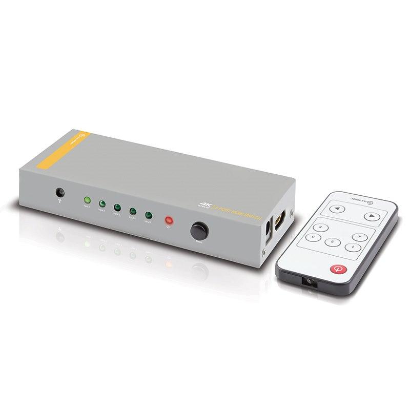 Alogic 5 Port Hdmi 2.0 4K Switch With Wireless Remote