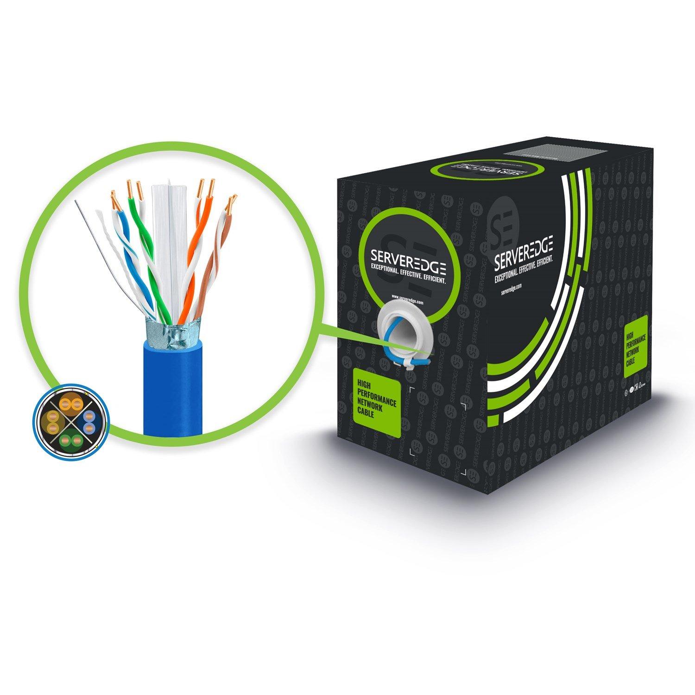 Serveredge Cat6a 305M Network Cable - Futp Solid LSZH 23Awg - Blue