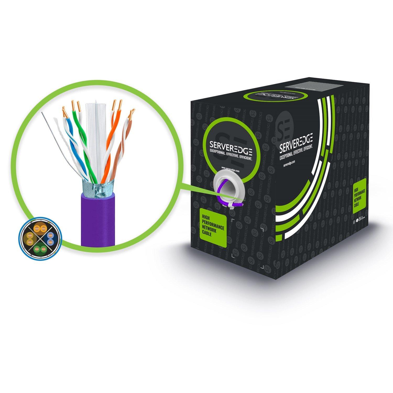 Serveredge Cat6a 305M Network Cable - Futp Solid LSZH 23Awg - Purple