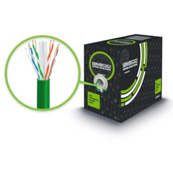 Serveredge Cat6 305M Network Cable - Utp Solid PVC 23Awg - Green