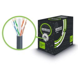 Serveredge Cat6 305M Network Cable - Utp Solid PVC 23Awg - Grey
