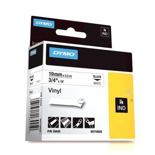 Dymo SD18445 Vinyl 19MM Black On White