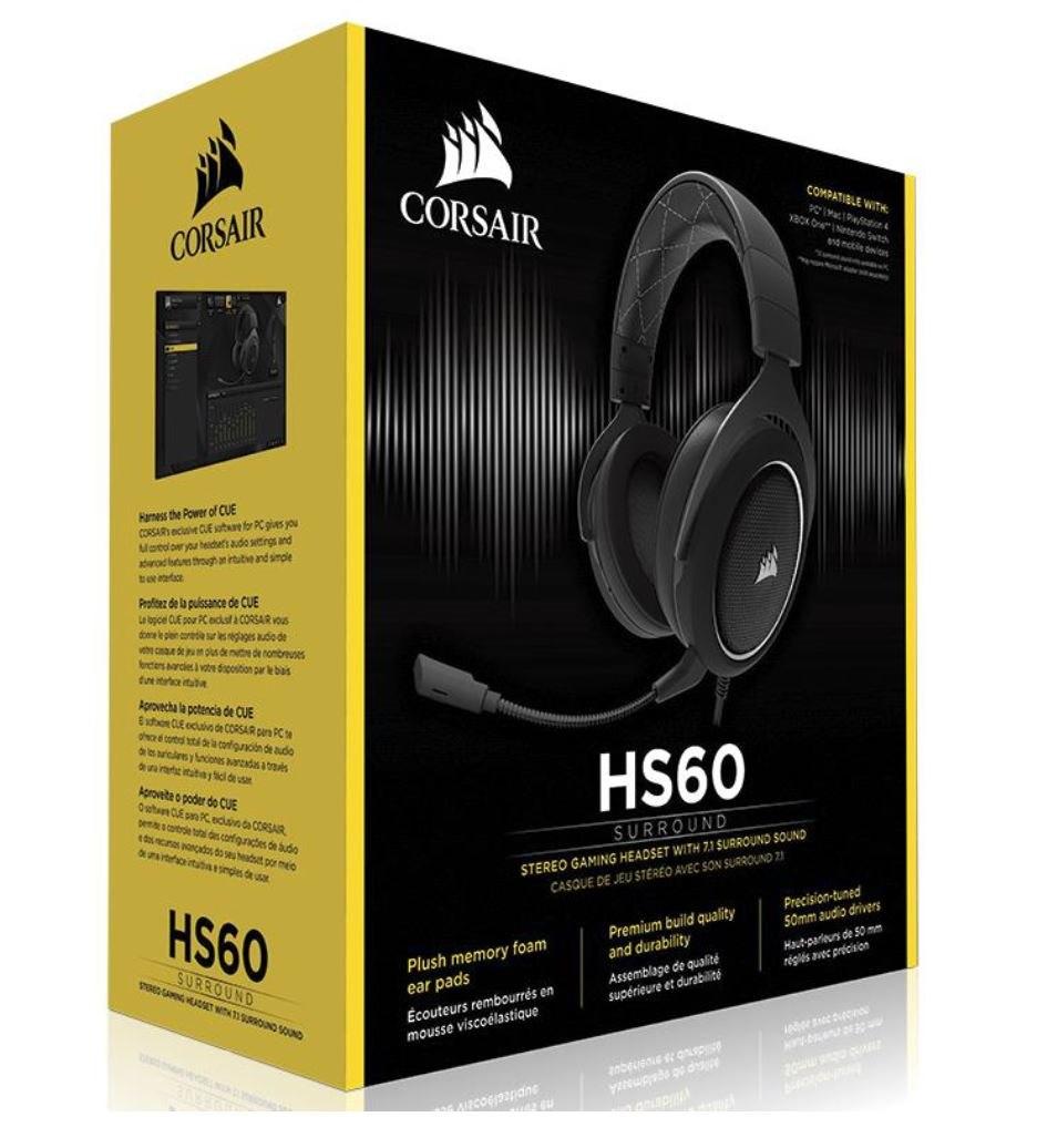 Corsair HS60 Stereo Gaming Headset, White. Nda Feb 13