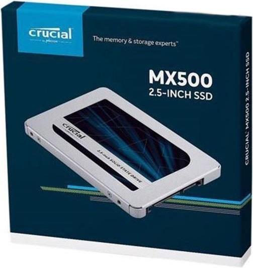 Micron Crucial MX500 500GB 2.5' Sata SSD - 3D TLC 560/510 MB/s 90/95K Iops 7MM W/9.5MM Adapter