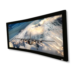 "Elite Screens 158"" Fixed Frame 2.35:1 Projector Screen, With 4K Acouctically Transparent"