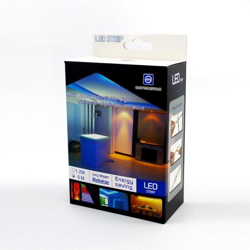 NationStar Led Flex Ribbon Strip Kit 12V 1.2M RGB 30 LED/m Inc. Power Adapter &Amp; Remote