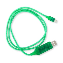 Generic Visible Flowing Micro Usb Charging Cable - Green