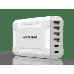 Wavlink Usb3.0 With Dual Type-C 6 Ports 60W Rugged Smart Usb Charger