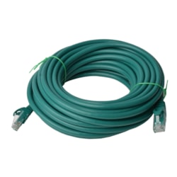 8Ware Cat 6A Utp Ethernet Cable, Snagless - Green 20M