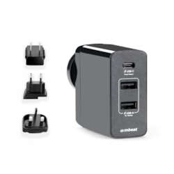 Mbeat GorillaPower Usb-C Power Delivery (PD 2.0) And Dual Usb-A World Travel Charger