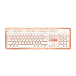 Azio MK Retro Classic BT Vintage Typewriter Bluetooth Backlit Mechanical Keyboard (Posh)