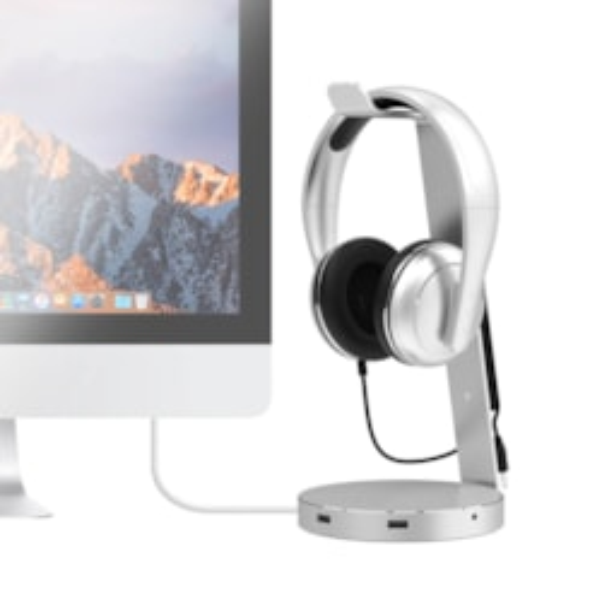 "Mbeat ""Zack"" Aluminium Headphone Stand W/ Usb 3.0 Hub And Audio"