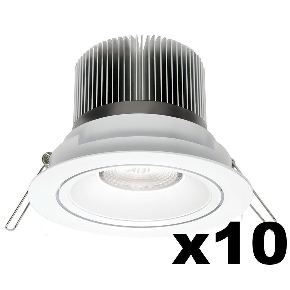 LEDware Omnizonic Led 10 Pack - Downlight 12W (600Lm) 4000K Natural White
