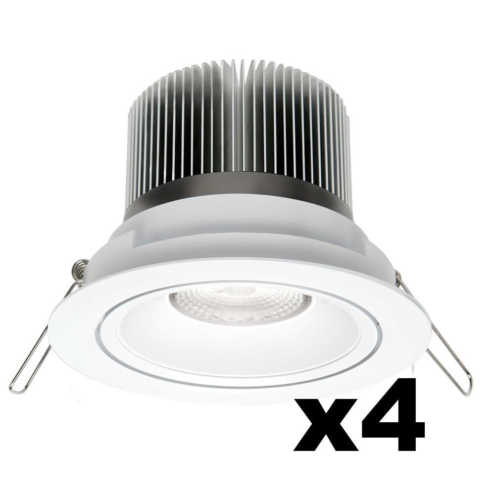 LEDware Omnizonic Led 4 Pack - Downlight 12W (600Lm) 3000K Warm White