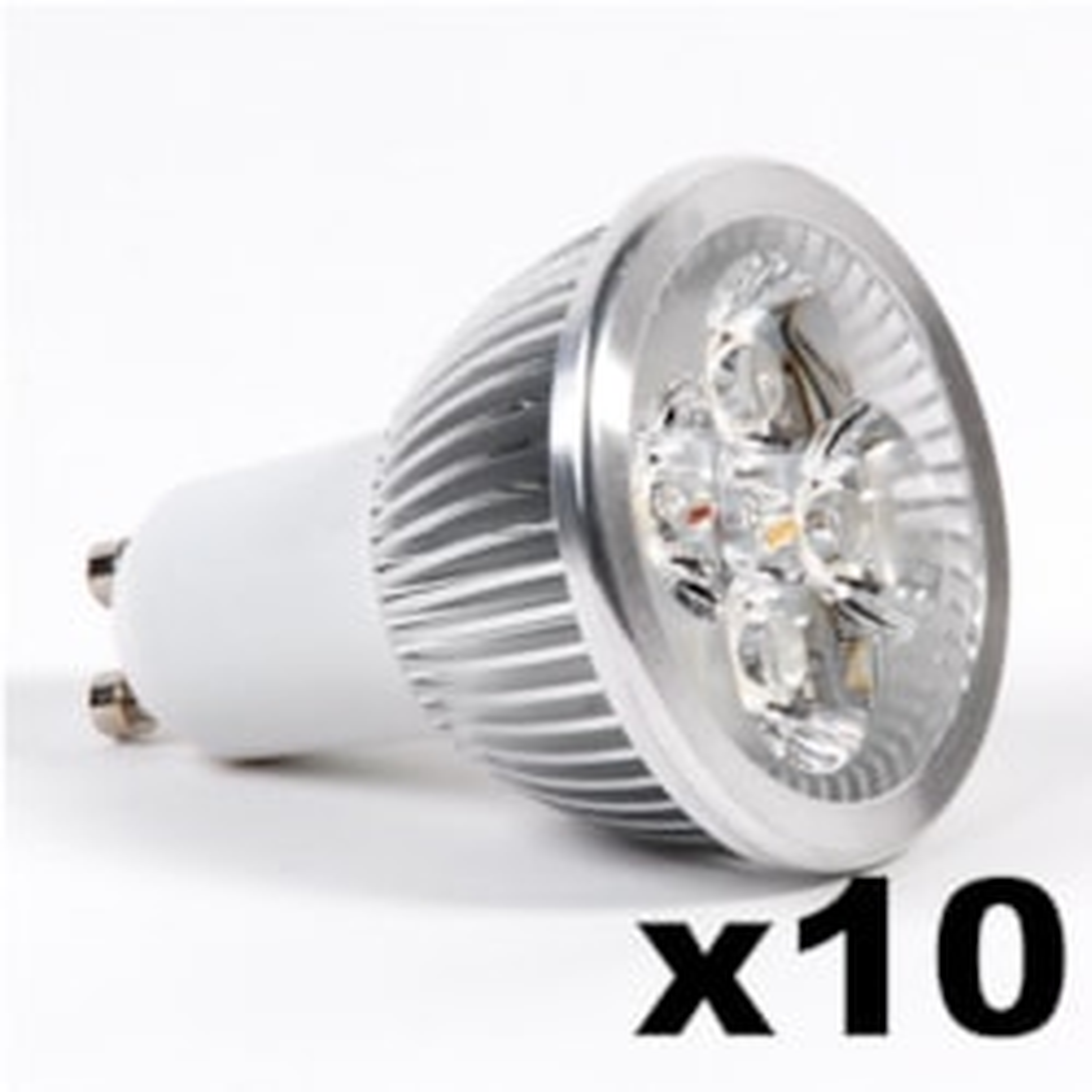 LEDware Omnizonic Led 10 Pack - Spotlight Gu10 4W (250 LM) Natural White
