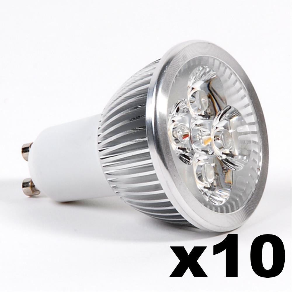LEDware Omnizonic Led 10 Pack - Spotlight Gu10 4W (250 LM) Warm White