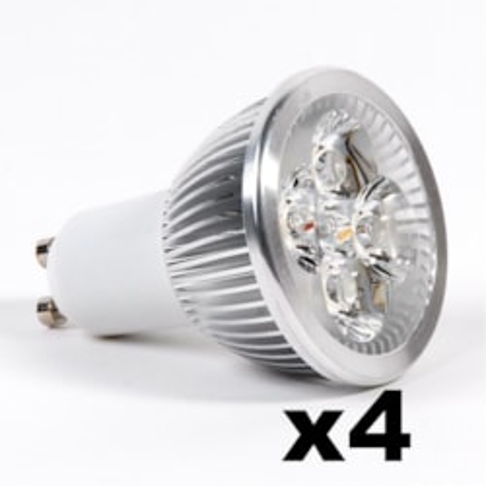 LEDware Omnizonic Led 4 Pack - Spotlight Gu10 4W (250 LM) Warm White
