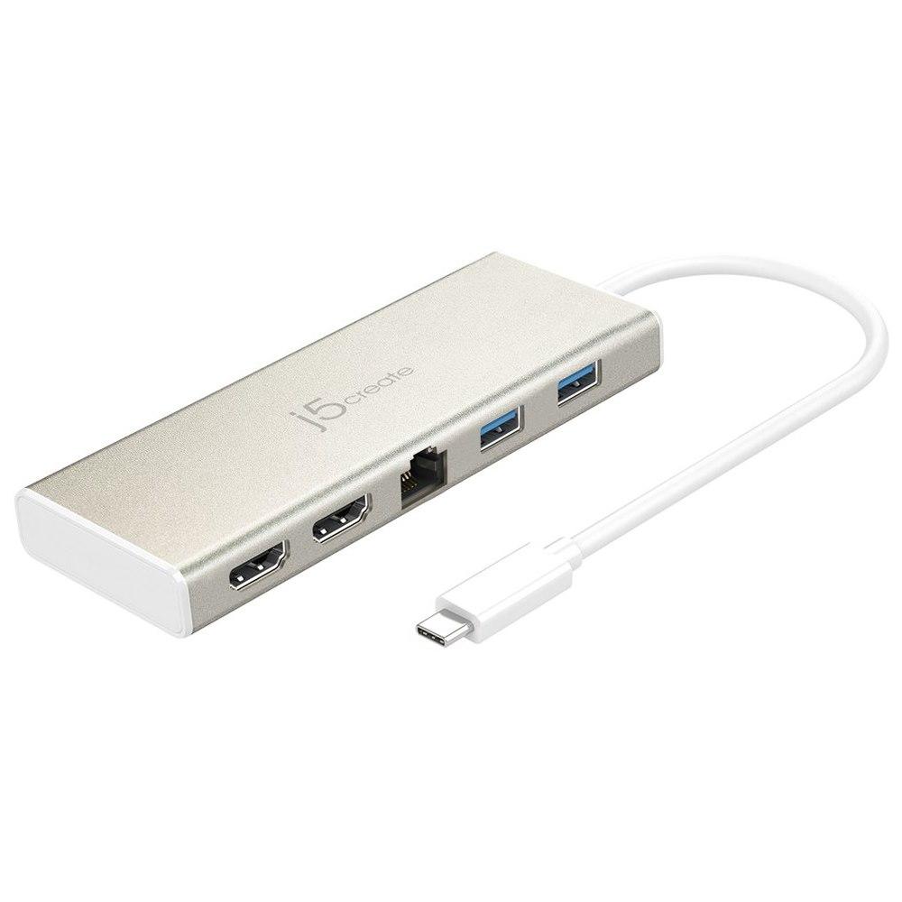 J5create Usb Type-C Dual Hdmi Mini Dock Ethernet/USB 3.1 Hub/ PD 2.0