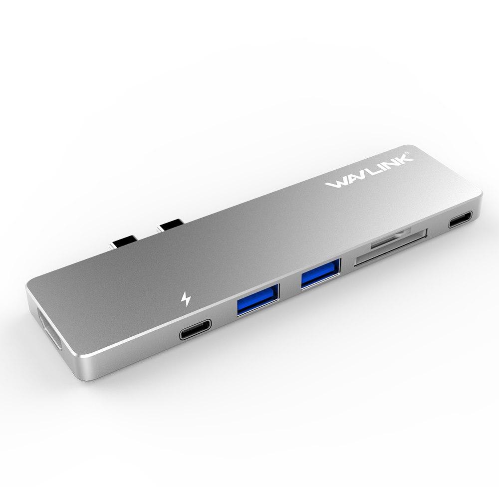 Wavlink Usb-C Hub With Type-C 4K Hdmi, Usb 3.0 &Amp; Card Reader