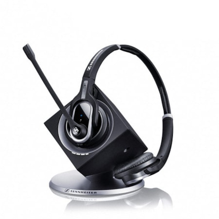 Sennheiser DW Pro 2 - Dect Binaural Wireless Office Headset With Base Station, For Desk Phone And PC, Adjustable Mic Arm + Ultra Noise Cancelling Mic