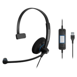 Sennheiser Monaural Wideband Office Headset, Integrated Call Control, Usb Connect, Activegard Protection, Large Ear Pad, Noise Cancel Mic, Call Contr