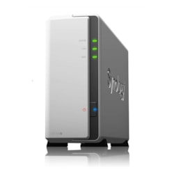 "Synology DiskStation DS119j 1-Bay 3.5"" Diskless 1xGbE Nas (Tower) (Soho), Marvell 800MHz, 2xUSB2 - 2 Years Warranty - Comes With 2 Camera Licenses."