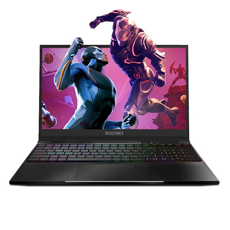 """Leader Computer Resistance VR Striker Gaming Notebook V4, 15.6"""" FHD Narrow Bezel, GTX 1060 6GB, I7-8750H, 16GB DDR4, 256GB + 1TB, RGB, W10H, 2Yr Warranty"""