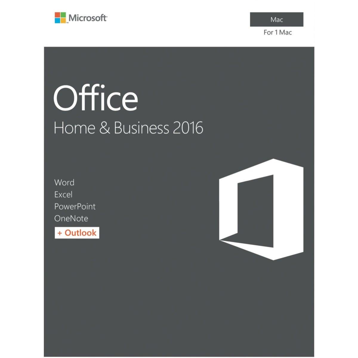 Microsoft Office Mac Home & Bus 2016 Retail Box