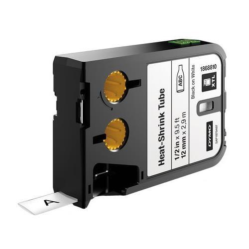 Dymo XTL 12MM Black/White HST Cont Tape