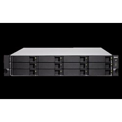 Qnap TVS-1272XU-RP-i3-4G No Rail 2U Rack Nas Amd Ryzen 3.6GHZ Quad Core, 12X HDD 4GB Ram, 2X Psu