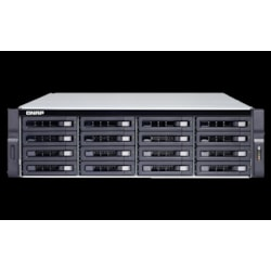 Qnap TVS-1672XU-RP-i3-8G No Rail 2U Rack Nas Amd Ryzen 3.6GHZ Quad Core, 16X HDD 8GB Ram, 2X Psu