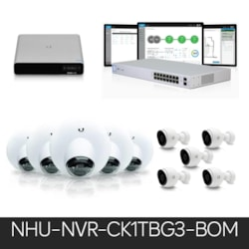 Ubiquiti Unifi Video Bundle – Uck-G2-Plus 1TB, 5 Dome, 5 Bullet & 16 Port Poe Switch.