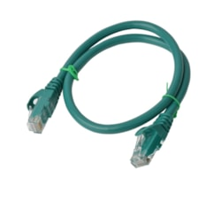 8Ware Cat6a Utp Ethernet Cable, Snagless  - Green 0.25M - RJ45 Ethernet Network Lan Utp Patch Cord 26Awg-Cca PVC Jacket