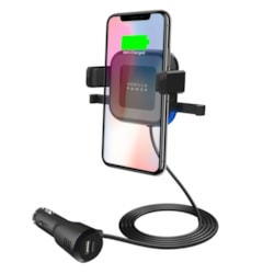 Mbeat® Gorilla Power 10W Wireless Car Charger With 2.4A Usb Charging, Air Vent Clip & Windshield Stand