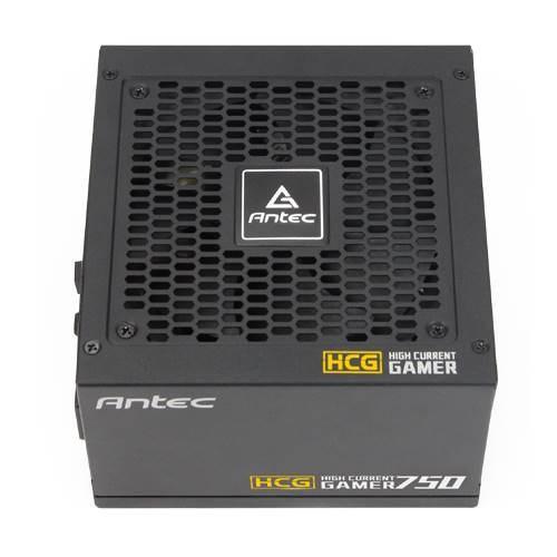 Antec HCG-750G 750W 80+ Gold Fully Modular Psu, 120MM FDB Fan, 100% Japanese Caps, DC To DC, Compact Design. 10 Years Warranty