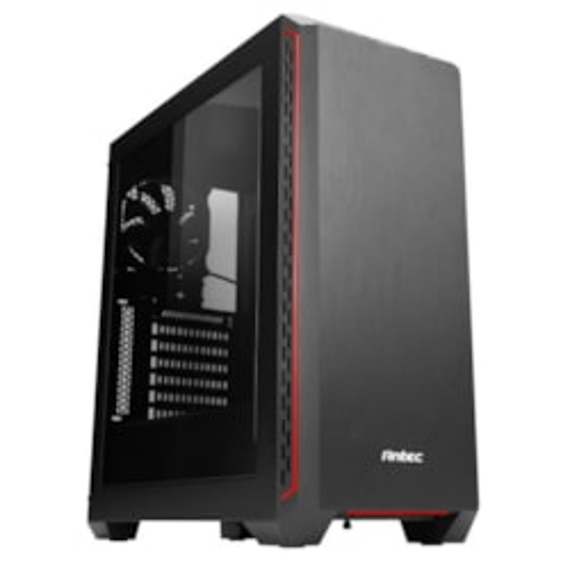Antec P7 Window Elite Performance Red Trim, Atx Mid Tower Case - 2X 3.5', 2X 2.5' Drive Bays - 7 Expansion Slots