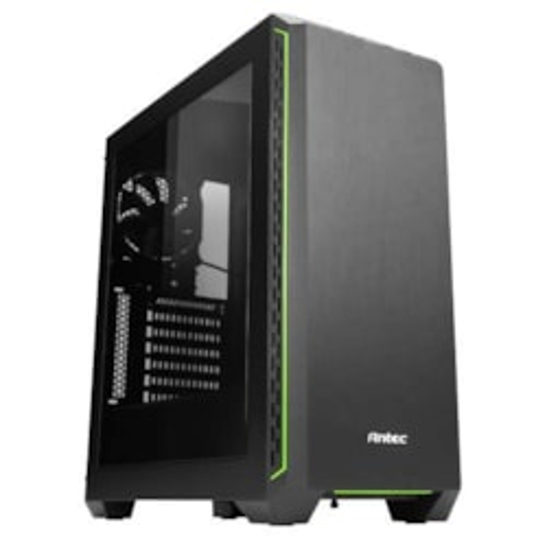 Antec P7 Window Elite Performance Green Trim Atx Mid Tower Case - 2X 3.5', 2X 2.5' Drive Bays - 7 Expansion Slots (LS)