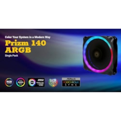 Antec Prizm 140 Argb Dual-Ring Hydraulic Bearing, 18 Independent Led Beads, PWM Fan. 2 Years Warranty