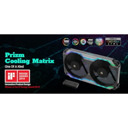 Antec Prizm Cooling Matrix. Argb Single Bracket Dual Fan With 2X 120MM FDB PWM Fans + Fan Control Box Up To 5X PWM Fans.