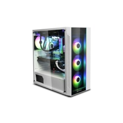 Deepcool Matrexx 55 Argb WH Full Sized Tempered Glass Case, White Colour, Supports E-Atx, Argb Led Strip @ Front Panel