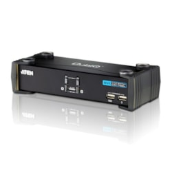 Aten 2 Port Usb Dvi KVMP Switch With Audio And Usb 2.0 Hub - Cables Included