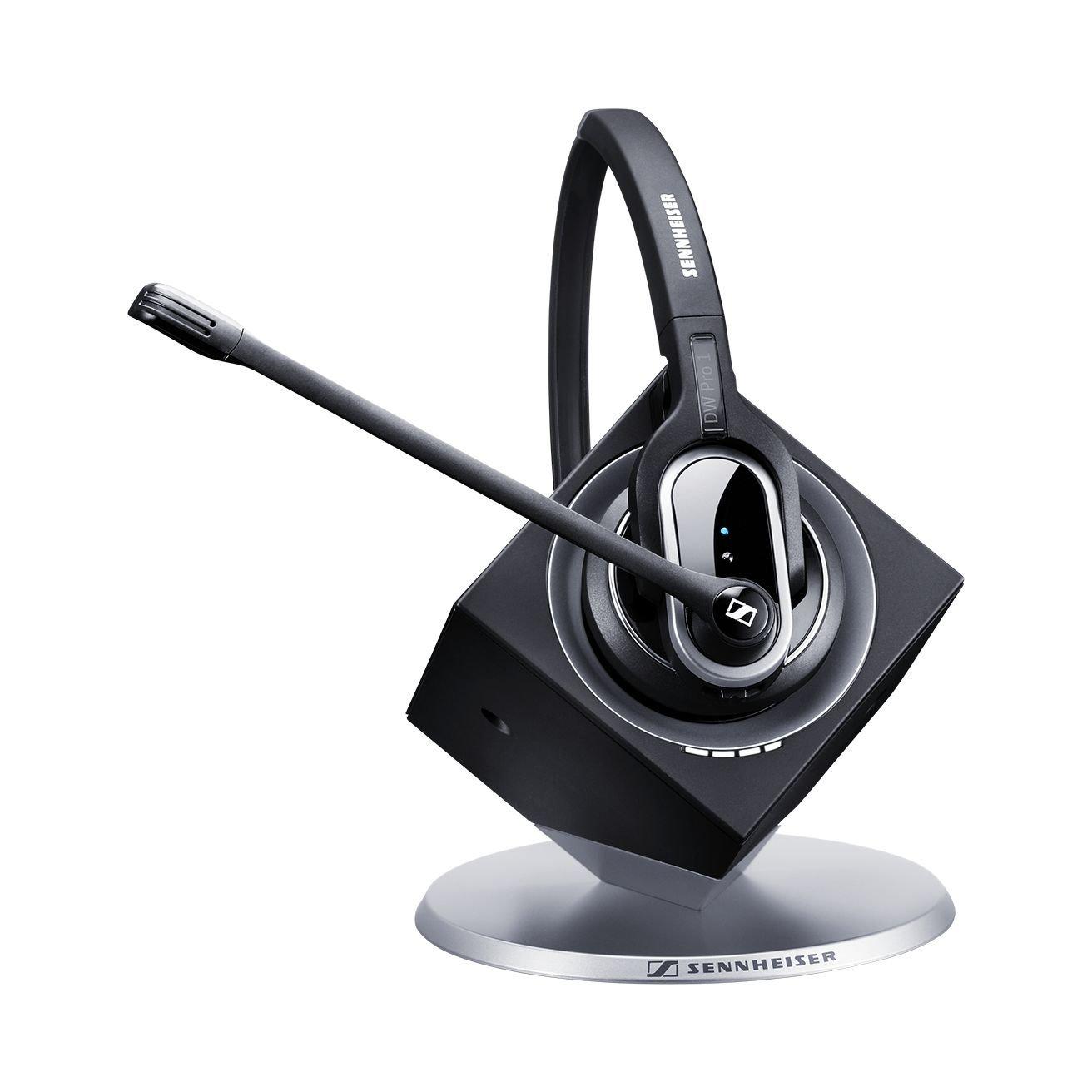 Sennheiser DW Pro 1 Wireless Headset (DW 20) (Dual Connectivity) Works With - Desk Phone + PC, 12 Hour Talk Time, 180M Wireless Range, 2 Year Warrant