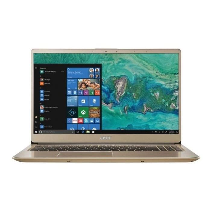 "Acer Swift 3, Core I7-8550U 1.8Ghz, 8GB, 256GB SSD, 15.6"" HD, No Optical. Wind 10 Home 64, Gold"